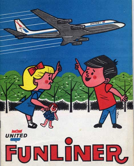 Cool kids activity book from 1964 produced for United Airlines.