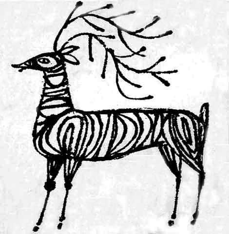 mid century modern deer