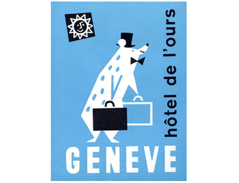 Swiss geneve hotel luggage label