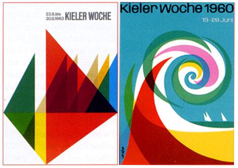 German kieler woche sailing posters