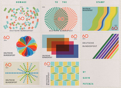 Gavin Potenza homage to the stamp- Otl Aicher