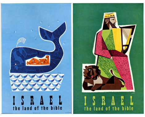 Posters of Jean David graphic designer from Israel