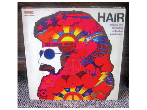 hair record - lp covert art - design