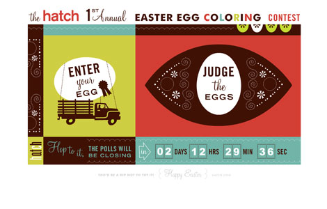 Hatch sf design egg coloring contest