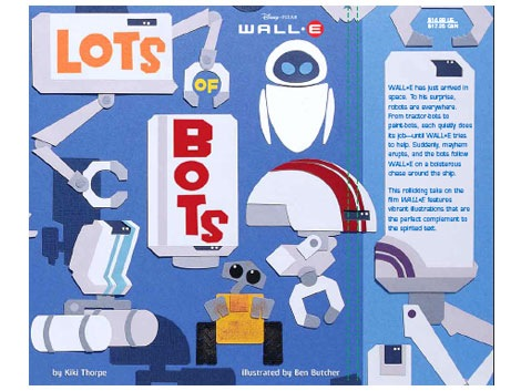 Lots of Bots WALL-E pixar book