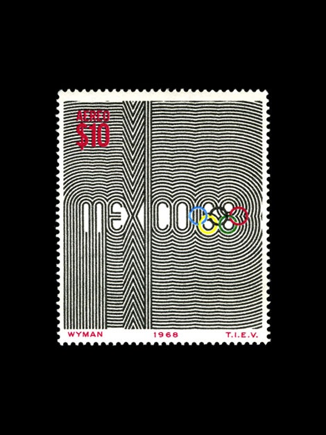 mexico 68 olympics stamp 1968