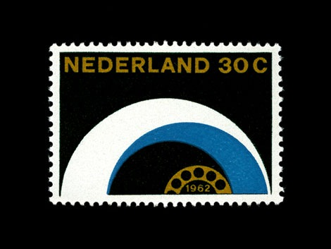 otto treumann dutch stamp design