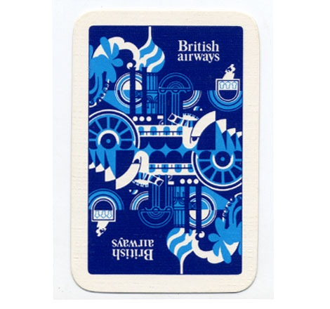 british airways playing cards