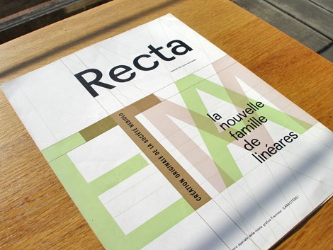 Aldo Novarese recta san serif typeface