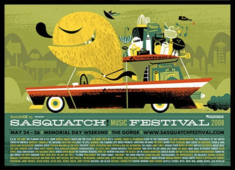 sasquatch festival poster