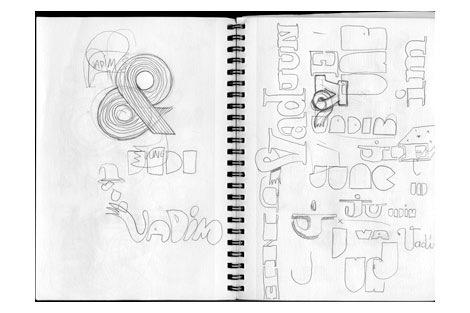 dj vadim poster sketches