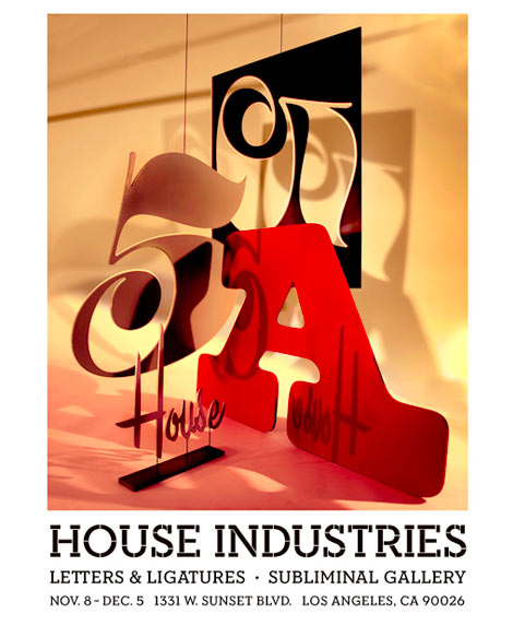House Industries letters and ligatures exhibition