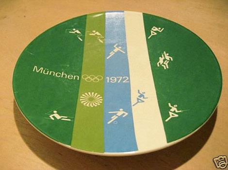 1972 Munich olympics plate
