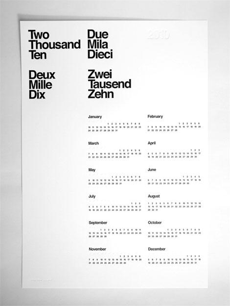 Aisle One 2010 Calendar
