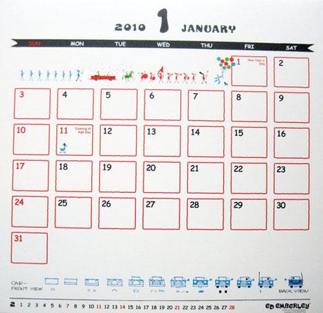 2010 calendar ed emberley