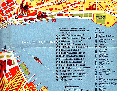 map of luzern