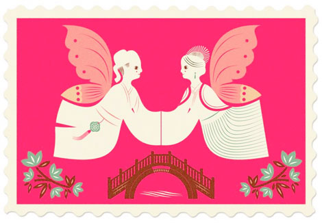valentines stamps