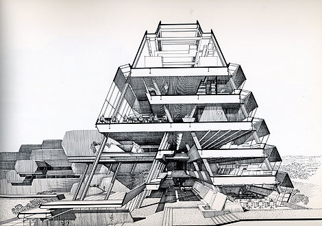 paul rudolph drawing