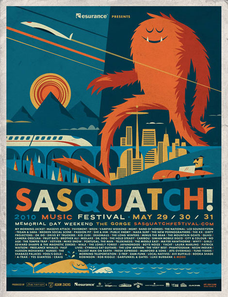 Sasquatch! Music Festival 2010 by Invisible Creature