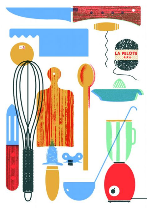 Blexbolex, illustration, France, Berlin, I Know How to Cook