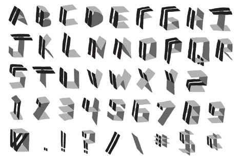 panels font