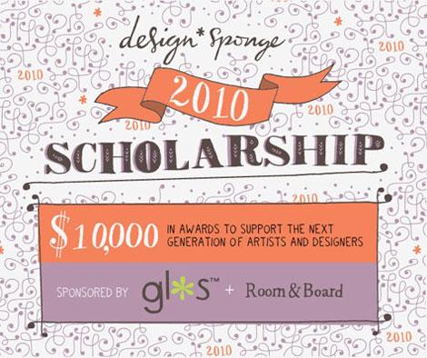 design sponge scholarship