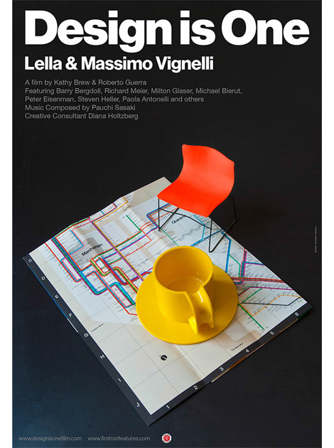 Design is One film poster by Mas­simo Vignelli via grain edit