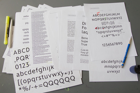 Mike Cina Matterhorn typeface via #grainedit
