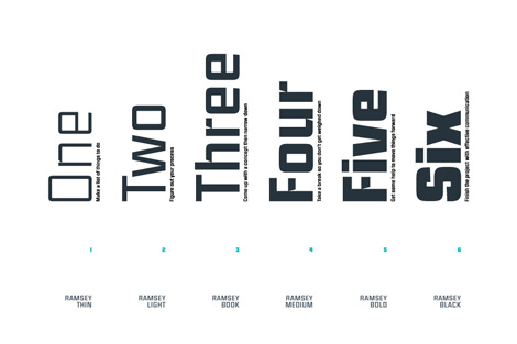 Ramsey Font by Mike Cina via #grainedit