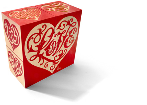 House Industries Love Hearts Blocks