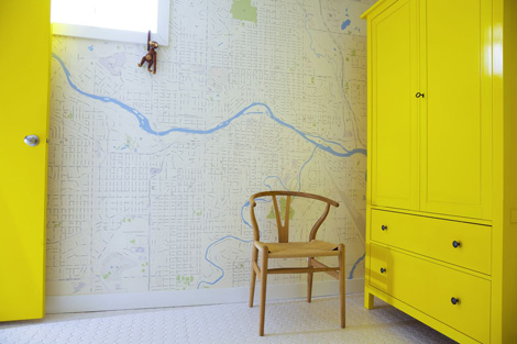 Wallpapered maps