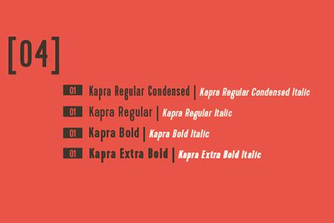 Kapra font